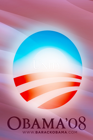 Obama = Unity iPhone Wallpaper
