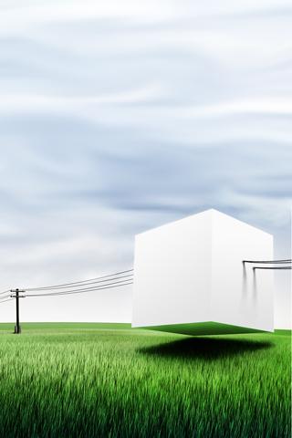 White Box iPhone Wallpaper
