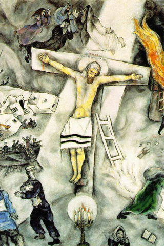 White Crucifixion - Chagall iPhone Wallpaper