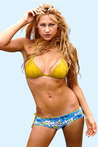 Anna Kournikova - Bikini iPhone Wallpaper